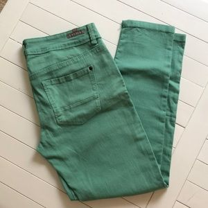 Turquoise/Green Jeans